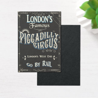 Piccadilly Circus London vintage poster Business Card