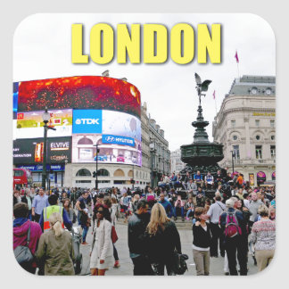 Piccadilly Circus - Pro photo Square Sticker