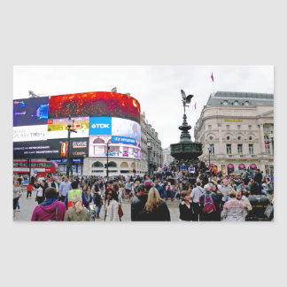 Piccadilly Circus - Professional photo Rectangular Stickers