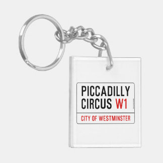 Piccadilly Circus Street Sign Keychain