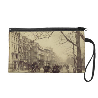 Piccadilly facing East, (sepia photo) Wristlet Purse