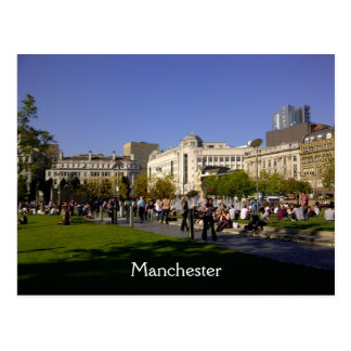 Piccadilly Gardens, Manchester Postcard