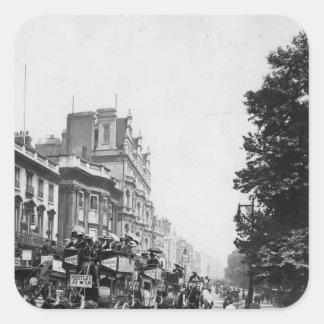Piccadilly, Londres Calcomania Cuadradas Personalizada
