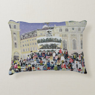 Piccadilly Snow Scene Decorative Pillow