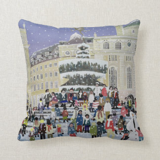 Piccadilly Snow Scene Throw Pillow