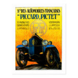 Piccard-Pictet Pic-Pic ~ Vintage Auto Ad Post Card