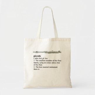 Piccolo - A definition Tote Bag