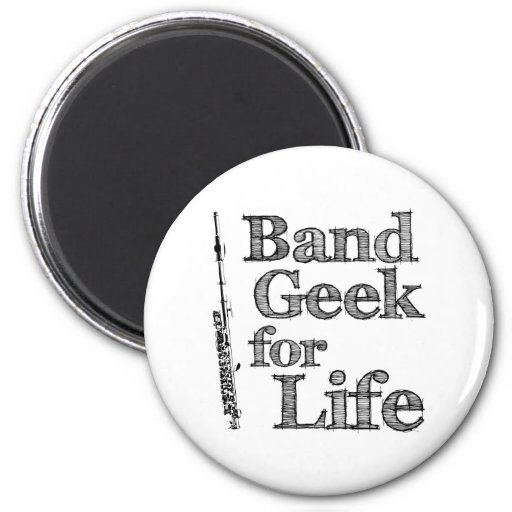 Piccolo Band Geek 2 Inch Round Magnet