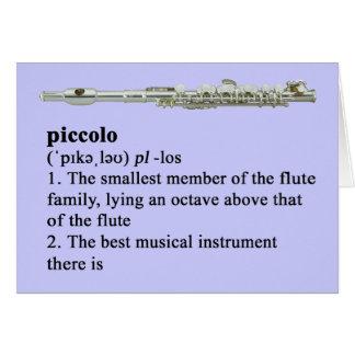 Piccolo definition card