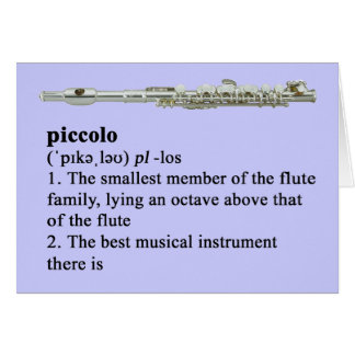 Piccolo definition greeting card