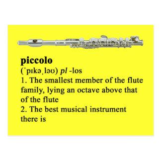 Piccolo definition postcard