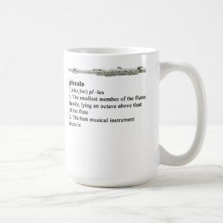 Piccolo dictionary definition classic white coffee mug