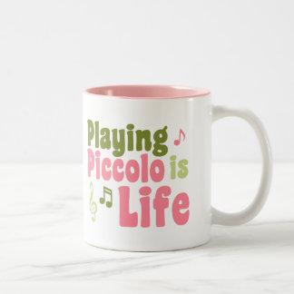 Piccolo is Life Two-Tone Coffee Mug