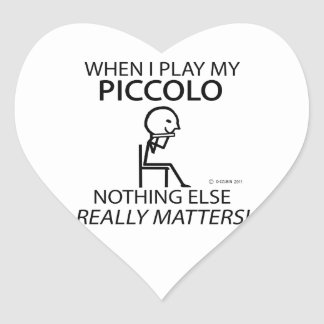Piccolo Nothing Else Matters Heart Sticker