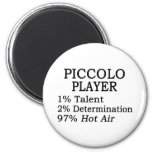 Piccolo Player Hot Air 2 Inch Round Magnet