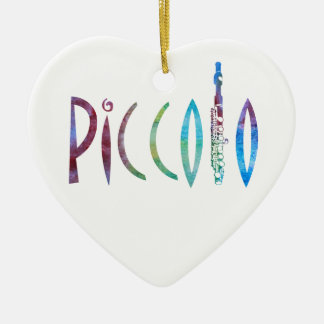 Piccolo Script Ceramic Ornament