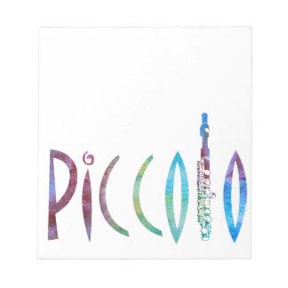 Piccolo Script Memo Note Pad