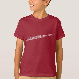 Piccolo Shaped Word Art White Text T-Shirt