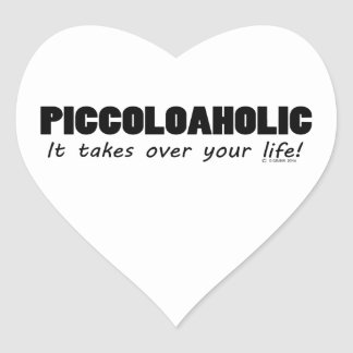 Piccoloaholic Life Heart Sticker