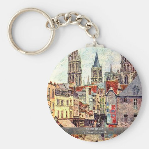 Picerie Rouen, By Pissarro Camille Key Chain