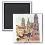 Picerie Rouen, By Pissarro Camille Magnets