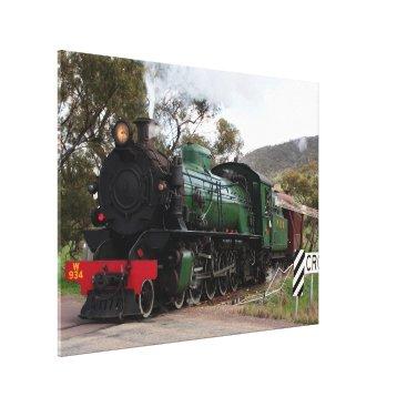 franwestphotography Pichi Richi Railway Steam Locomotive Canvas Print