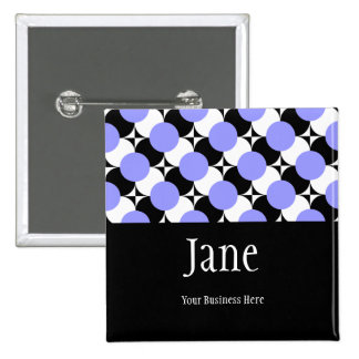 PICK-A-COLOR Funky Dots Name Badge Button