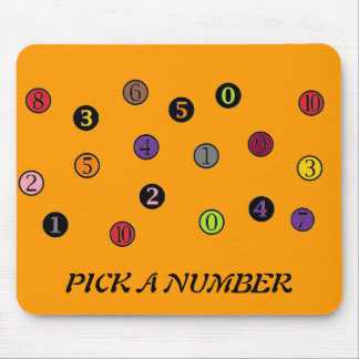 PICK A NUMBER MOUSE PADS