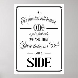 """Pick a seat "" wedding sign Print"