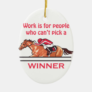 Pick A Winner Ceramic Ornament