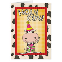 Pick an Age Birthday Cow Card