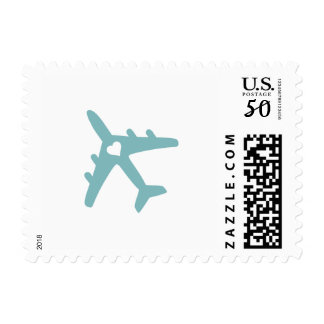 PICK ANY COLOR | Heart Optional | Airplane Postage