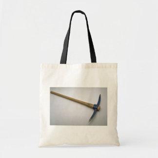 Pick axe budget tote bag