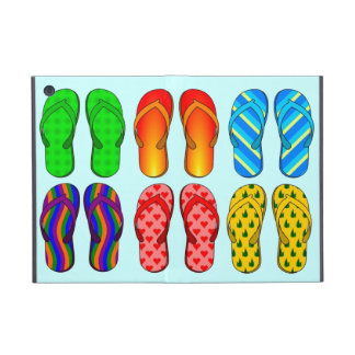 Pick Background Color Summer Beach Flip Flops Cover For iPad Mini