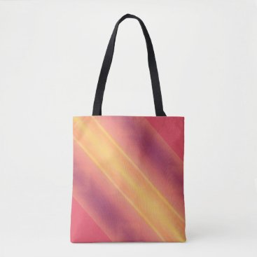 Beach Themed Pick Background Colors diagonal Stripe Pattern Tote Bag