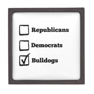 Pick Bulldogs! Political Election Dog Print Gift Box