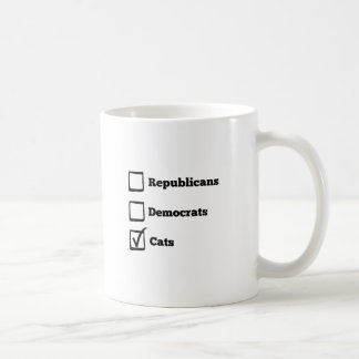 Pick Cats! Political Election Cat Print Coffee Mug