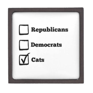 Pick Cats! Political Election Cat Print Jewelry Box