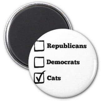 Pick Cats! Political Election Cat Print Magnet