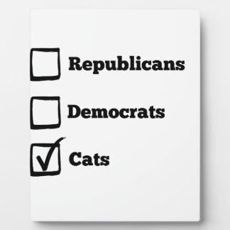 Pick Cats! Political Election Cat Print Plaque