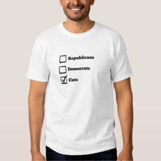 Pick Cats! Political Election Cat Print T-shirt