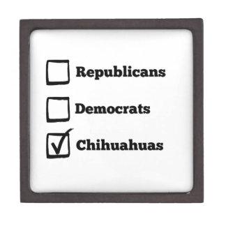 Pick Chihuahuas! Political Election Chihuahua Gift Box