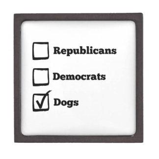 Pick Dogs! Political Election Dog Print Keepsake Box