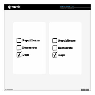 Pick Dogs! Political Election Dog Print Kindle Fire Decals