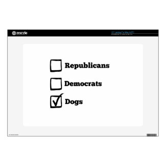 Pick Dogs! Political Election Dog Print Laptop Skin