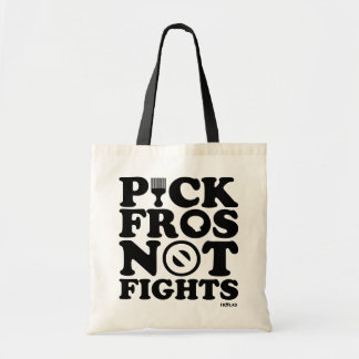 PICK FROS NOT FIGHTS™ - black tote Canvas Bag