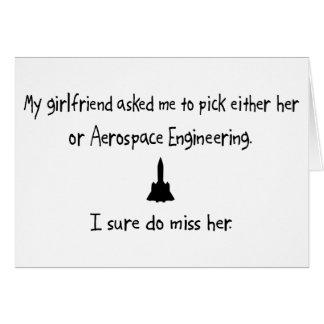 Pick Girlfriend or Aerospace Engineering Card