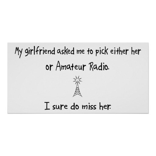 Pick Girlfriend or Amateur Radio Poster