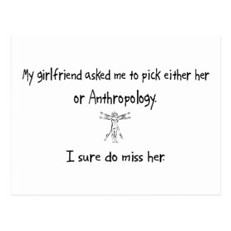 Pick Girlfriend or Anthropology Post Cards