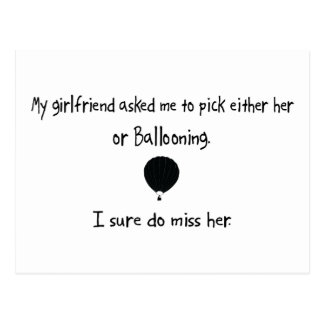 Pick Girlfriend or Ballooning Postcard